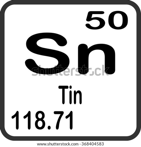 Periodic Table Elements Tin Stock Vector Royalty Free 368404583