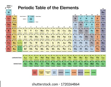 Periodic Table of the Elements Vector Illustration