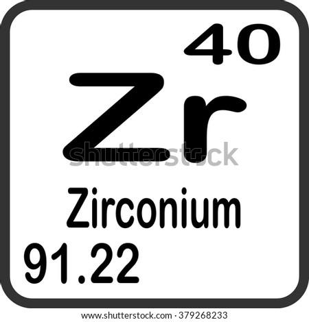Periodic Table Elements Zirconium Stock Vector Royalty Free