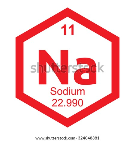 Periodic Table Sodium Element Stock Vector Royalty Free 324048881
