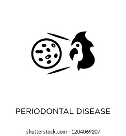 Periodontal disease icon. Periodontal disease symbol design from Diseases collection. Simple element vector illustration on white background.