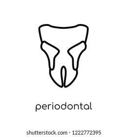 Periodontal disease icon. Trendy modern flat linear vector Periodontal disease icon on white background from thin line Diseases collection, editable outline stroke vector illustration