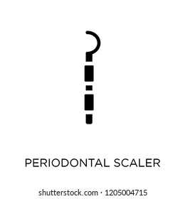 Periodontal scaler icon. Periodontal scaler symbol design from Dentist collection. Simple element vector illustration on white background.