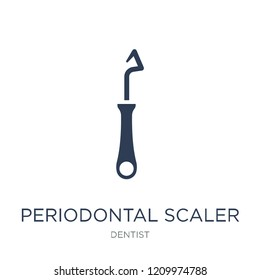Periodontal scaler icon. Trendy flat vector Periodontal scaler icon on white background from Dentist collection, vector illustration can be use for web and mobile, eps10