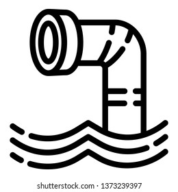 Periscope icon. Outline periscope vector icon for web design isolated on white background