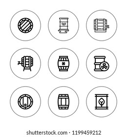 Perishable icon set. collection of 9 outline perishable icons with  icons. editable icons.