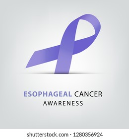 Periwinkle color ribbon. Esophageal cancer awareness. healthcare and medicine concept. Vector illustration.