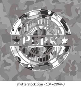 Perk grey camo emblem