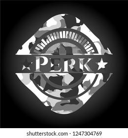 Perk on grey camo pattern