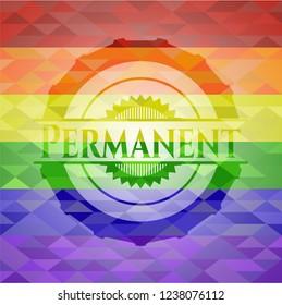 Permanent lgbt colors emblem