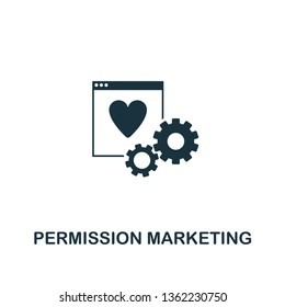 Permission Marketing icon. Creative element design from content icons collection. Pixel perfect Permission Marketing icon for web design, apps, software, print usage.