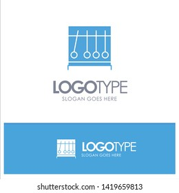 Perpetual, Motion, Medical, Medicine Blue Solid Logo with place for tagline