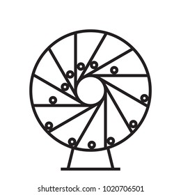 perpetual motion, vector illustration