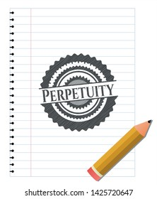 Perpetuity pencil draw. Vector Illustration. Detailed.