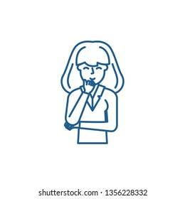 Perplexity line icon concept. Perplexity flat  vector symbol, sign, outline illustration.
