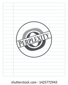 Perplexity pencil effect. Vector Illustration. Detailed.