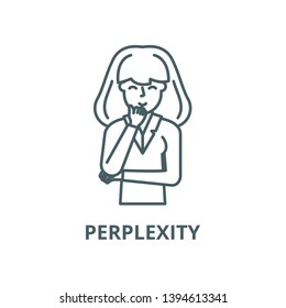 Perplexity vector line icon, linear concept, outline sign, symbol