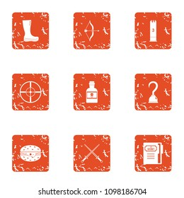 Persecution icons set. Grunge set of 9 persecution vector icons for web isolated on white background