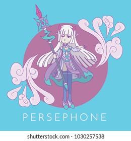 Persephone character vector illustration