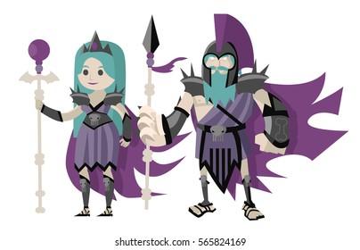 persephone proserpina underworld goddess and hades pluto god of the dead