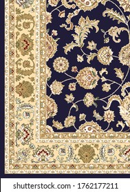 Persian carpet and home furnishing design in vector for digital print.