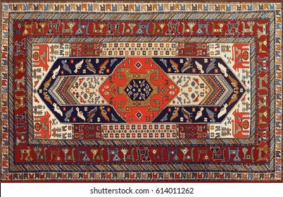 Persian carpet, tribal vector Background
