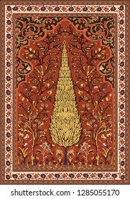 Persian carpet, tribal vector texture. Easy to edit and change a few colors by swatch window.