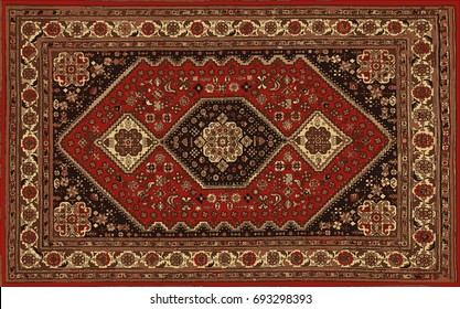 Persian carpet, tribal vector texture