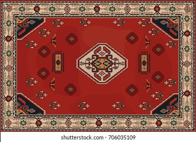 royal red carpet texture. Persian Carpet, Tribal Vector Texture. Easy To Edit And Changing Colors Background. Royal Red Carpet Texture N