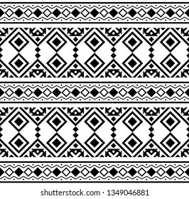 Persian ethnic pattern design illustration vector in black and white color