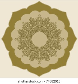 persian round pattern.vector