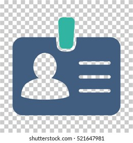 Person Badge icon. Vector pictograph style is a flat symbol, color, chess transparent background. Designed for software and web interface toolbars and menus.