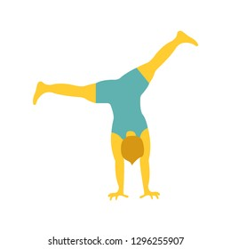 Person doing cartwheels emoji vector