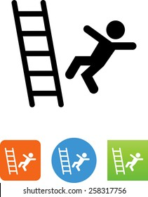 Person falling off a ladder icon