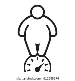 ?verweight person. Fat man. Vector illustration.