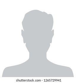 Person gray photo placeholder man silhouette on white background