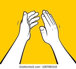 Person hands clapping