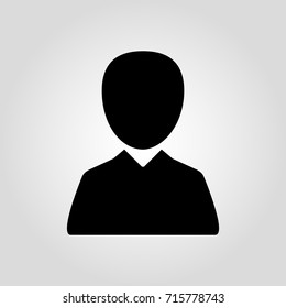 Person headshot icon. Identification icon. Photograph or man icon. Male selfie portrait picture. Male user account or user profile flat icon for apps and websites.