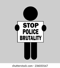 person holding stop police brutality protest sign
