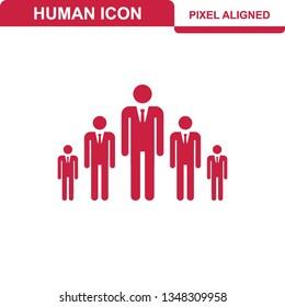 Person icon flat illustration design - Vector