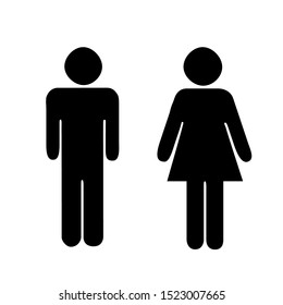 Person icon. Toilets Icon Unisex. Vector man & woman icons. WC sign icon. Toilet symbol