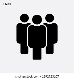 Person icon vector, People sign