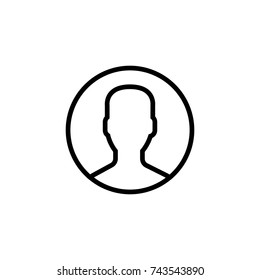 Person icon, Person icon vector, in trendy flat style isolated on white background. Person icon image, Person icon illustration