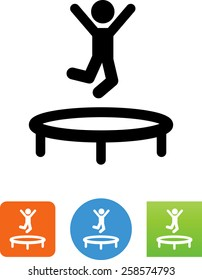 Person jumping on a trampoline icon