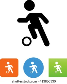 Person kicking a ball icon