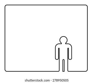 person outline icon design