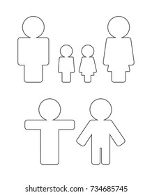 person outline icon set