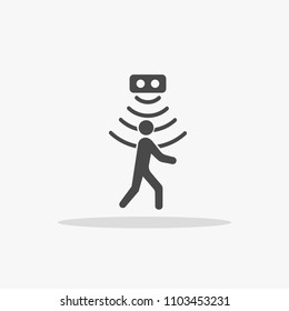 person passing on motion sensor vector  icon