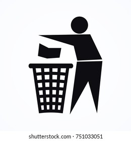 person rubbish icon