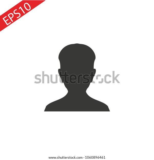Person. Single flat icon on white background. Vector illustration.